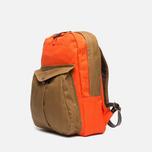 Filson Twill Backpack Tan/Orange photo- 1