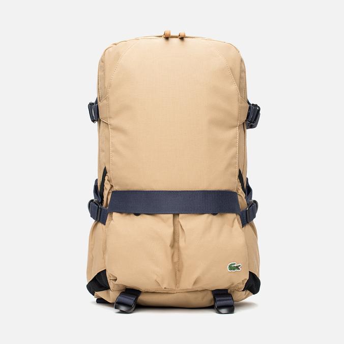 Lacoste Live Basic Multiple Pockets Backpack Tannin Nine Iron