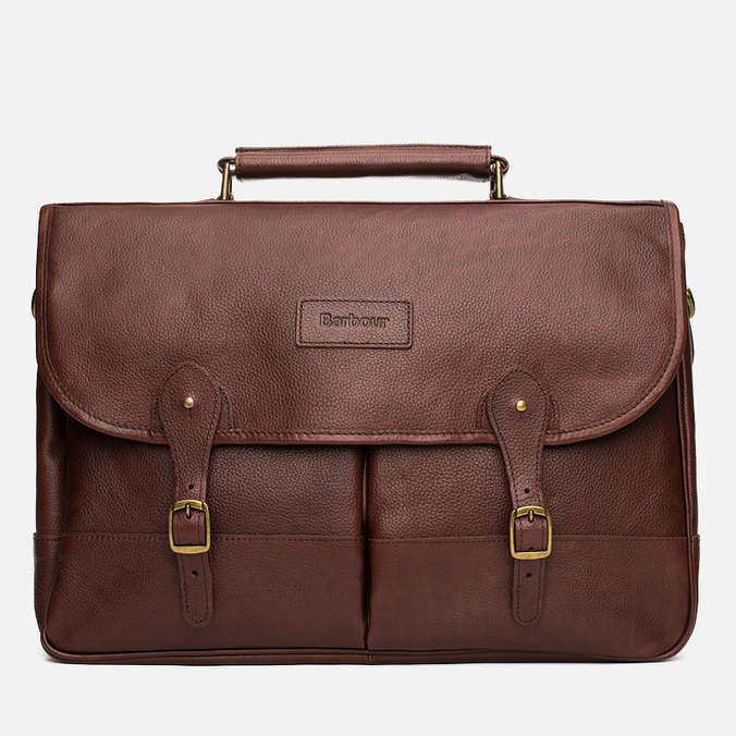 Сумка Barbour Leather Briefcase Brown