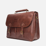 Сумка Barbour Leather Briefcase Brown фото- 1