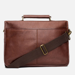 Сумка Barbour Leather Briefcase Brown фото- 3