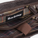 Barbour Leather City Bag Dark Brown photo- 11