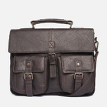 Barbour Leather City Bag Dark Brown photo- 0