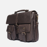 Barbour Leather City Bag Dark Brown photo- 1