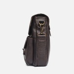 Barbour Leather City Bag Dark Brown photo- 2