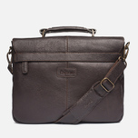 Barbour Leather City Bag Dark Brown photo- 3