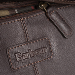 Barbour Leather City Bag Dark Brown photo- 10