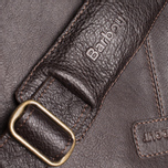 Barbour Leather City Bag Dark Brown photo- 9