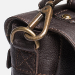Barbour Leather City Bag Dark Brown photo- 8