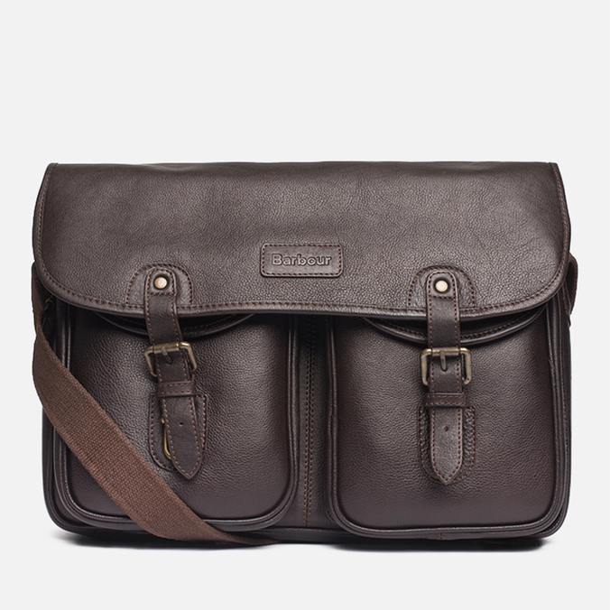 Barbour Leather City Tarras Bag Dark Brown