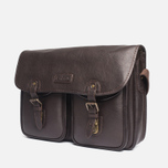 Barbour Leather City Tarras Bag Dark Brown photo- 1