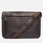 Barbour Leather City Tarras Bag Dark Brown photo- 3