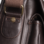 Barbour Leather City Tarras Bag Dark Brown photo- 9