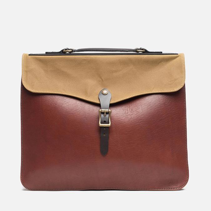 Filson Leather Brief Cognac