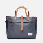 Nanamica Briefcase Bag Blue Gray/Navy/White photo- 4
