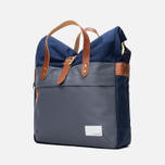 Сумка Nanamica Briefcase Blue Gray/Navy/White фото- 1