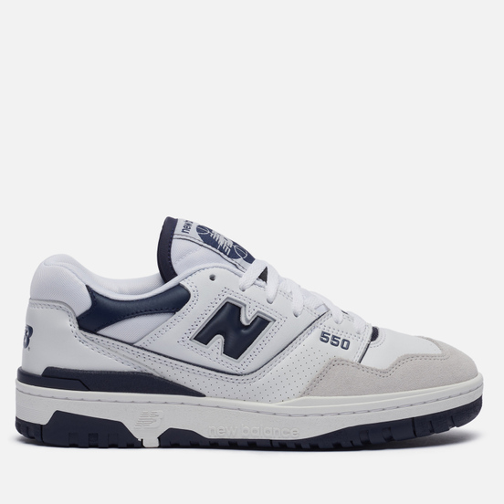 Мужские кроссовки New Balance BB550WA1 White/Navy