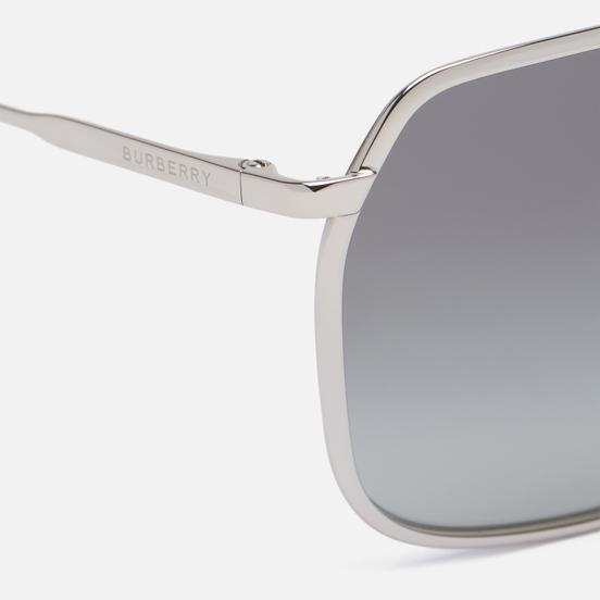 Солнцезащитные очки Burberry Adam Silver/Grey Gradient