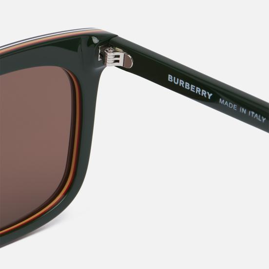 Солнцезащитные очки Burberry Carnaby Green/Dark Brown