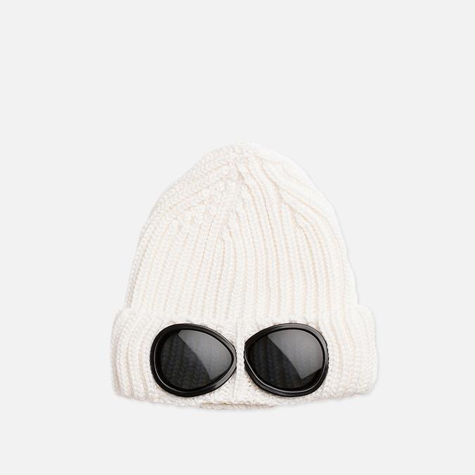 Детская шапка C.P. Company U16 Goggle Hat White