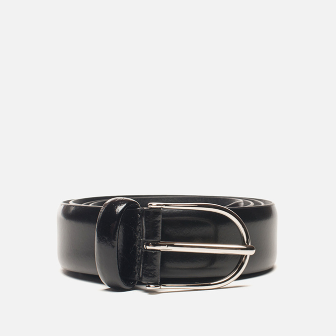 Anderson's Classic Thin Smooth Leather Belt Black