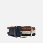 Anderson's Classic Tricolor Men's Belt Navy/White/Brown photo- 0