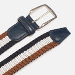 Anderson's Classic Tricolor Men's Belt Navy/White/Brown photo- 1