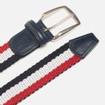 Ремень Anderson's Classic Tricolor Navy/White/Red фото- 1