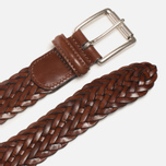Anderson's Classic Woven Leather Belt Brown photo- 1