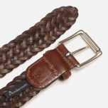 Anderson's Classic Woven Leather Belt Brown photo- 2
