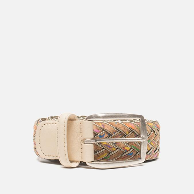 Ремень Anderson's Classic Woven Multicolor Silver/Cork
