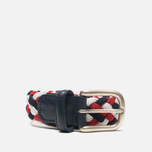 Ремень Anderson's Classic Woven Tricolor White/Red/Navy фото- 0