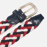 Ремень Anderson's Classic Woven Tricolor White/Red/Navy фото- 1