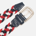 Ремень Anderson's Classic Woven Tricolor White/Red/Navy фото- 2