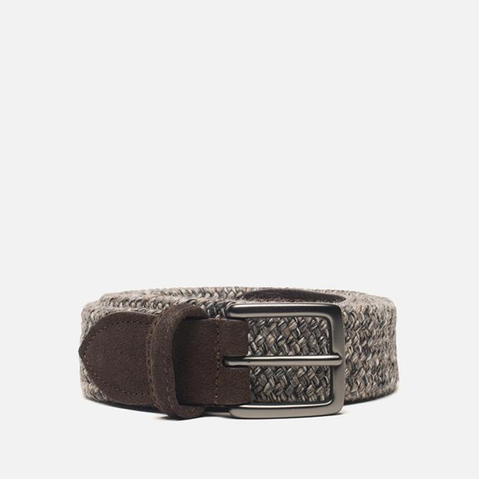 Anderson's Classic Woven Wool Men's Belt Grey