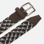 Anderson's Classic Woven Wool Milticolor Men's Belt Brown/Navy/Grey photo- 1