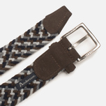 Anderson's Classic Woven Wool Milticolor Men's Belt Brown/Navy/Grey photo- 2