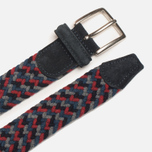 Anderson's Classic Woven Wool Milticolor Men's Belt Grey/Navy/Red photo- 1