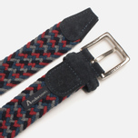 Anderson's Classic Woven Wool Milticolor Men's Belt Grey/Navy/Red photo- 2