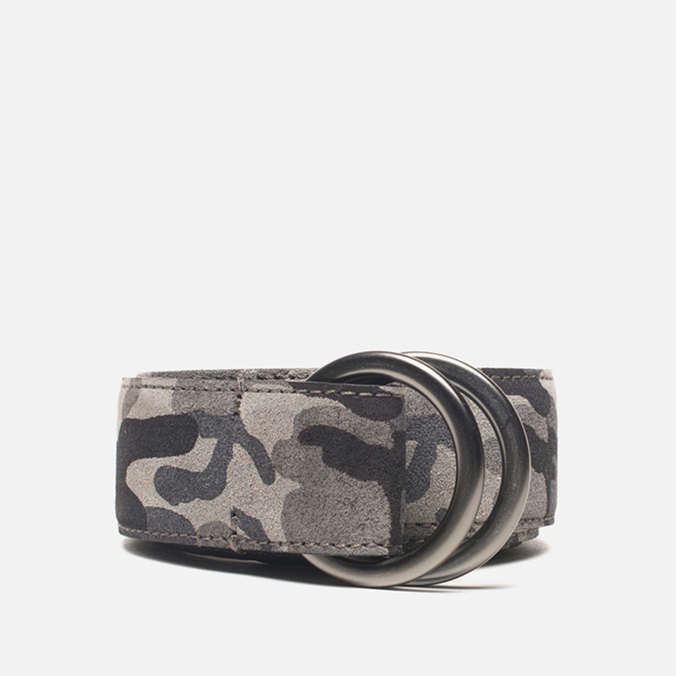 Ремень Anderson's Double Ring Buckle Leather Camo Black/Grey