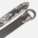 Ремень Anderson's Double Ring Buckle Leather Camo Black/Grey фото- 2