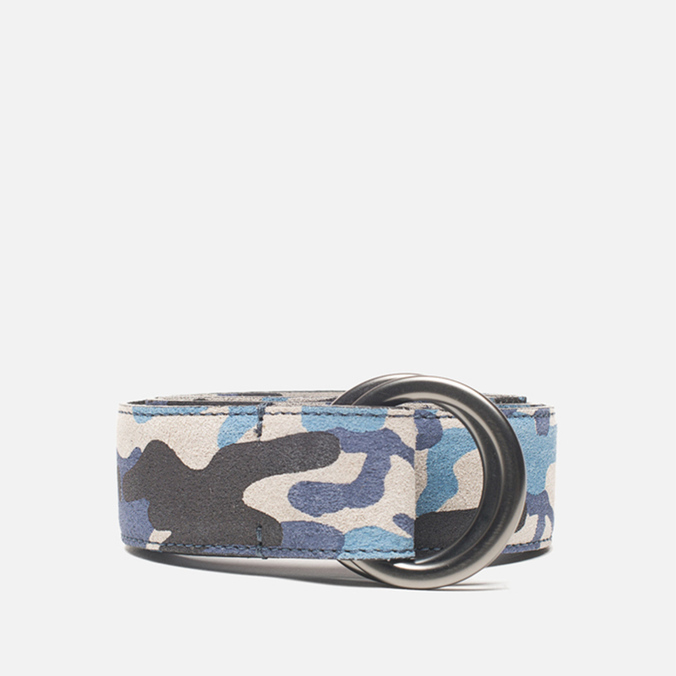 Ремень Anderson's Double Ring Buckle Leather Camo Black/Navy/Blue