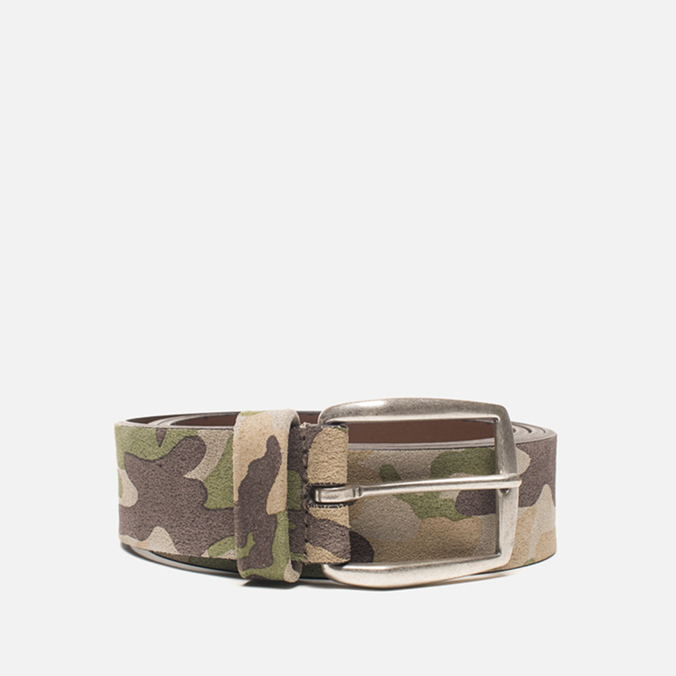 Anderson's Leather Camo Belt Green/Tan/Brown