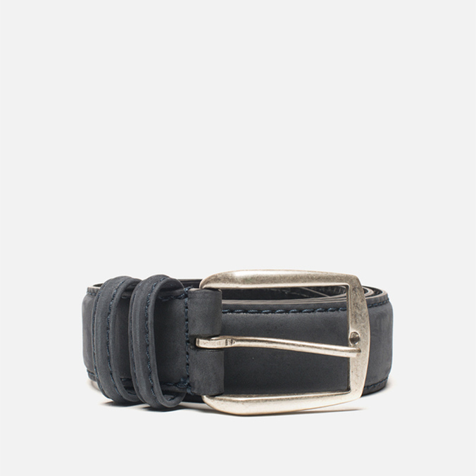 Anderson's Soft Calf Leather Men's Belt Navy