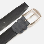 Anderson's Soft Calf Leather Men's Belt Navy photo- 2