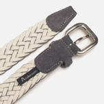Ремень Anderson's Woven Suede and Cotton Grey/White фото- 2