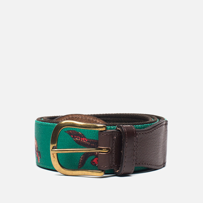 Barbour Coloured Leather Country Green/Duck