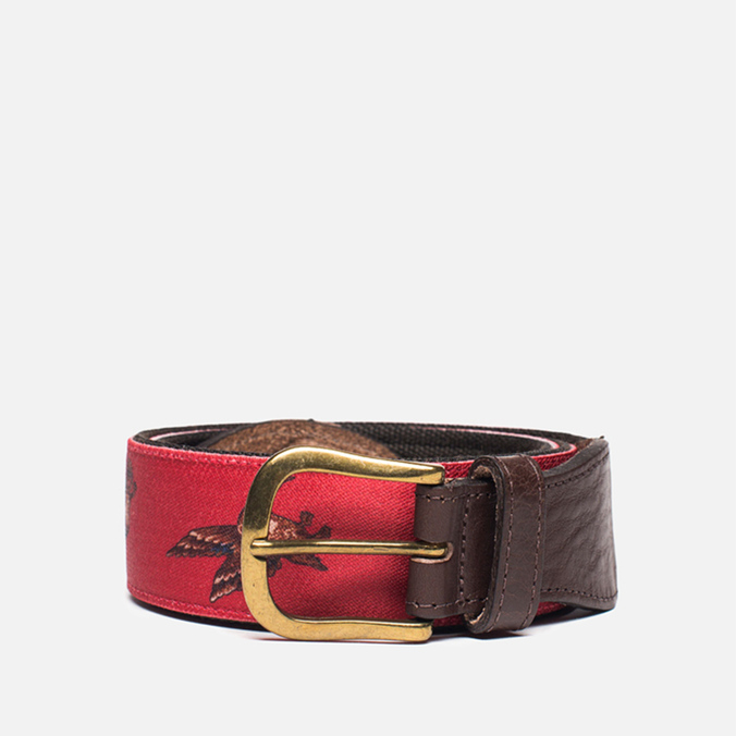 Barbour Coloured Leather Country Red/Duck