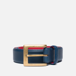 Ремень Barbour Coloured Leather Navy/Red фото- 0