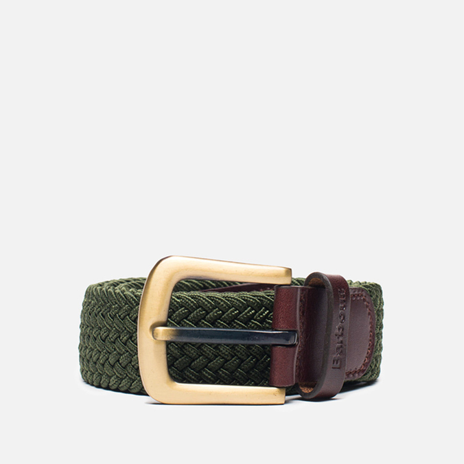 Мужской ремень Barbour Stretch Webbing Leather Khaki